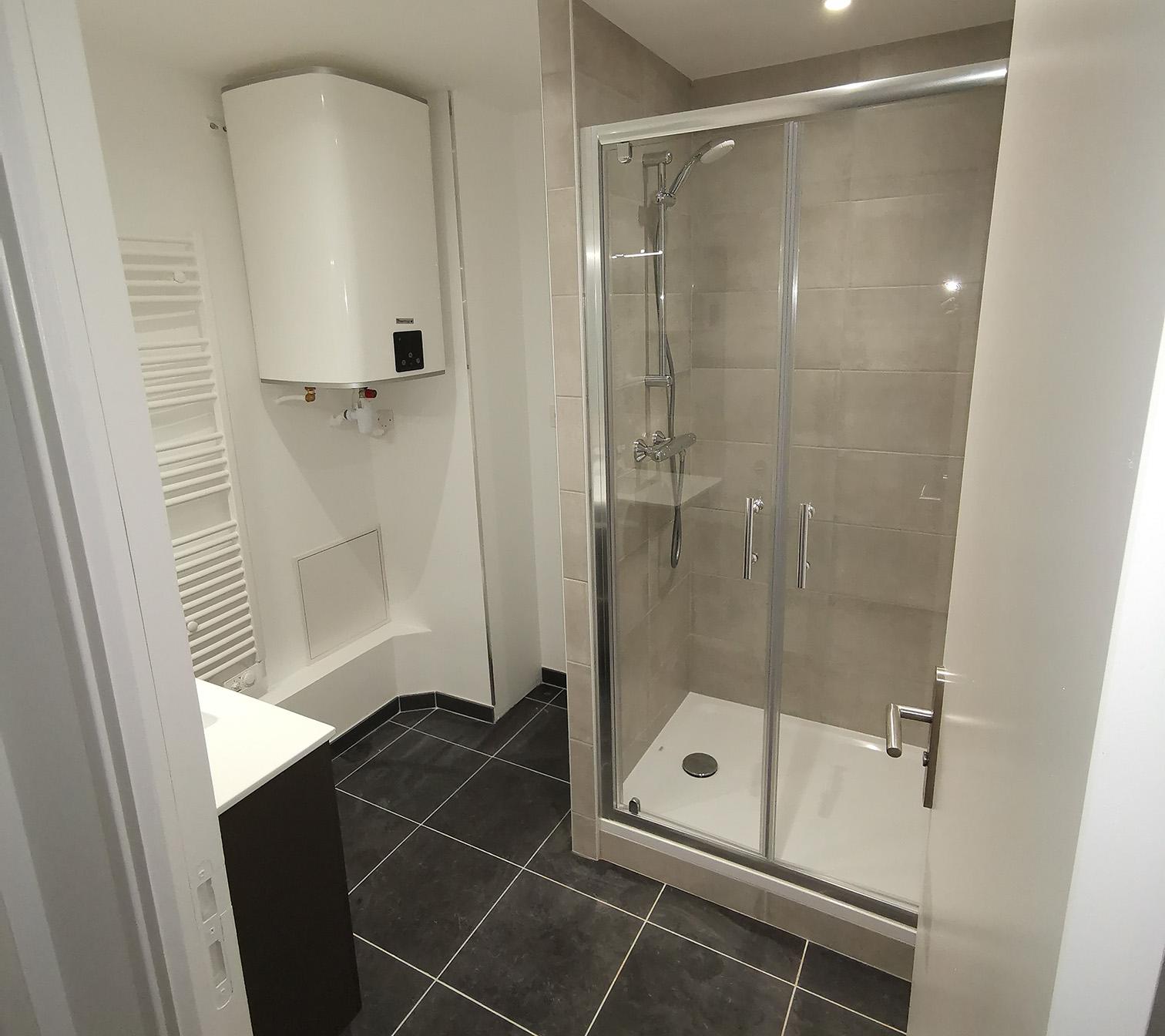 Création salle de douche - RÉSULTAT
