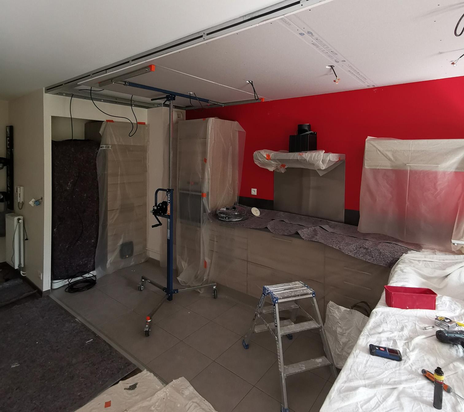 PENDANT : création faux-plafond